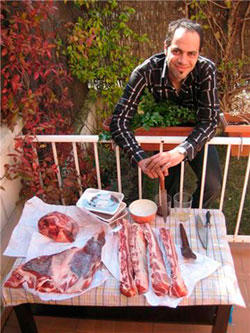 Asado argentino parrilla carnes