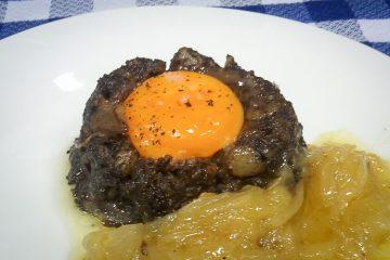 Receta volcan morcilla lava huevo cebolla caramelizada - Wikipedia