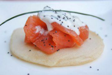 Receta blinis salmon - Wikicocina