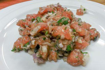 Receta tartar salmon - Wikicocina