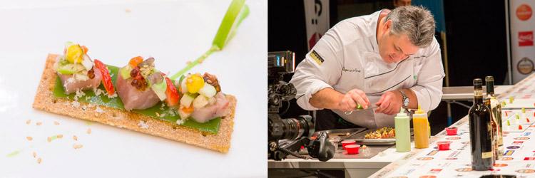 Pintxo-Maritako-Haritza-Gastro-Cafe-(Mungia)-cocinero-Manuel-Eduardo-Campeonato-de-Pintxos-Amstel-Oro-Wikicocina