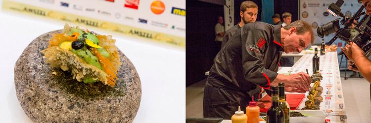 Pintxo-Markalao-La-Cocina-de-Alex-Mugica-(Pamplona)-cocinero-Alex-Mugica-Campeonato-de-Pintxos-Amstel-Oro-Wikicocina