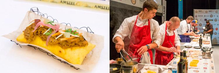 Pintxo-Pulled-Pork-El-Kiosko-(Bilbao)-cocinero-Darran-Williamson-Campeonato-de-Pintxos-Amstel-Oro-Wikicocina